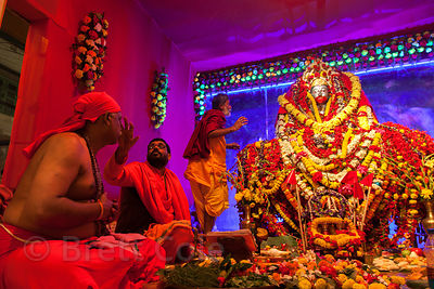 Tara Maa Puja in Lake Gardens, Kolkata, India.
