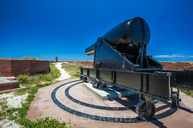 15-inch Rodman Gun on Fort Jefferson in Dry Tortugas National Park