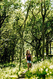 Danish girl in a forest