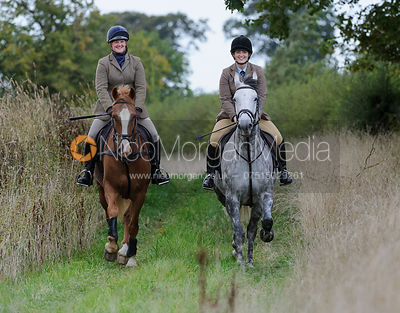 The Cottesmore Hunt in Exton Park 17/9