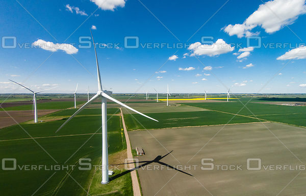 Wind Turbines On Farmland England UK