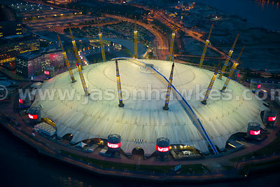 The O2 Arena, aerial view, London