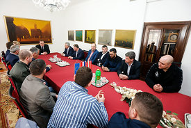 during the Final Tournament - Final Four - SEHA - Gazprom league, reception by Varazdin major, Varazdin, Croatia, 02.04.2016...