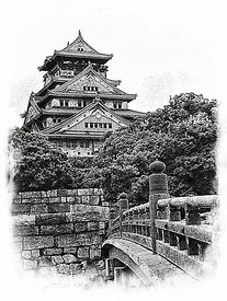 15_Osaka_Castle_sketch_best