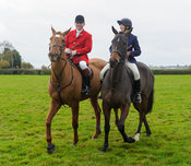 James Mossman MFh and Louise Bevin - Quorn at Barrowcliffe 1-11-13
