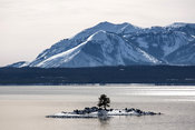 Yellowstone Lake, Carrington Island, Mt. Sheridan;..