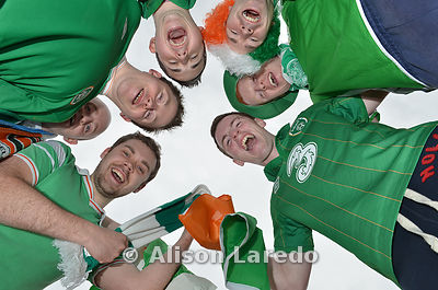 Irish Football fans. Alison Laredo