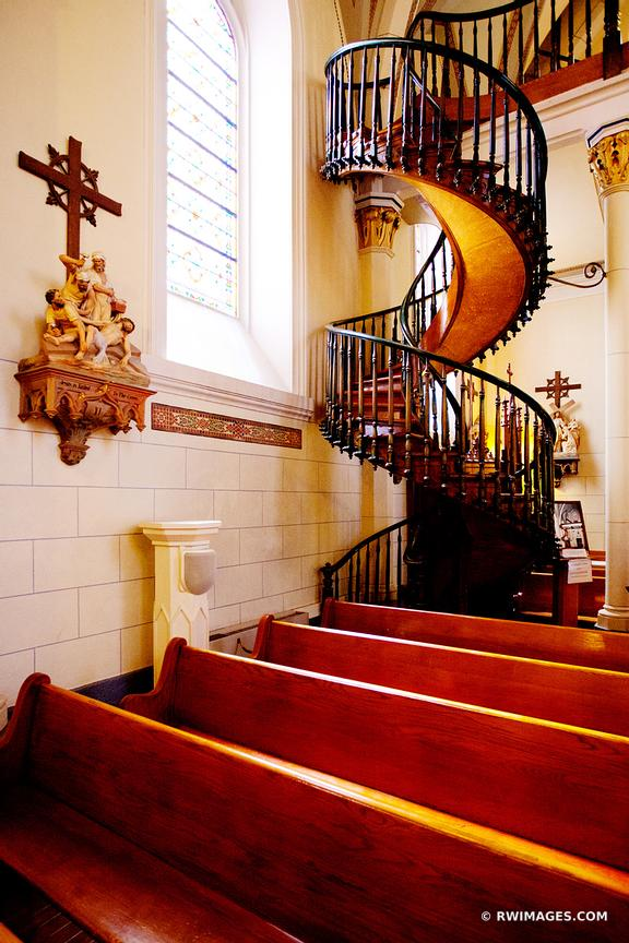 LORETTO CHAPEL STAIRCASE SANTA FE NEW MEXICO