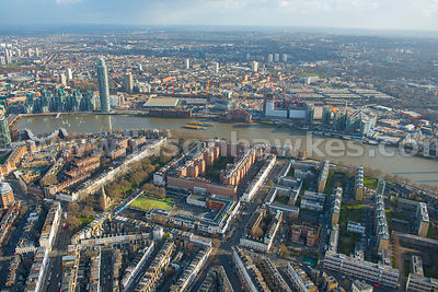 Aerial view of Dolphin Square, London