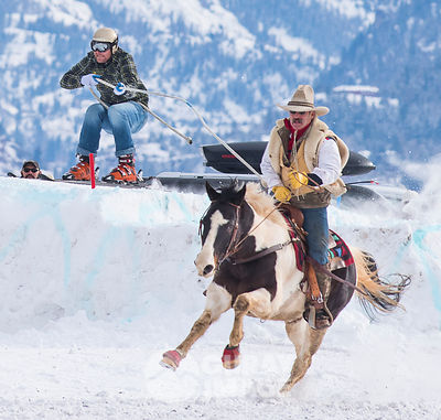 Old School Skijoring