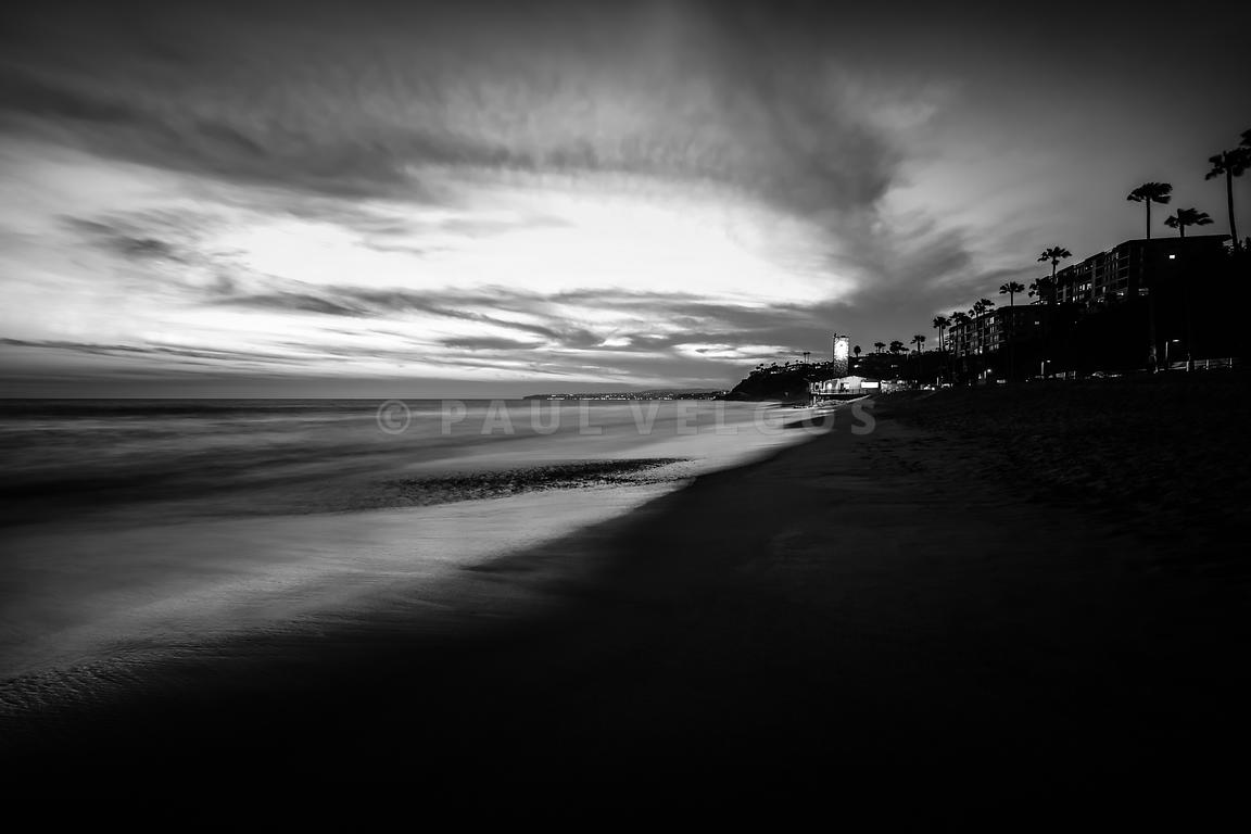 San Clemente California Beach Black and White Photo