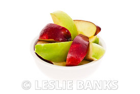 Apple slices in a bowl