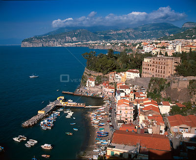 Sorrento town and harbour, Amalfi Coast, Italy