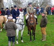 Clare, William and Martin Bell - The Cottesmore Hunt's Boxing Day meet 2013.