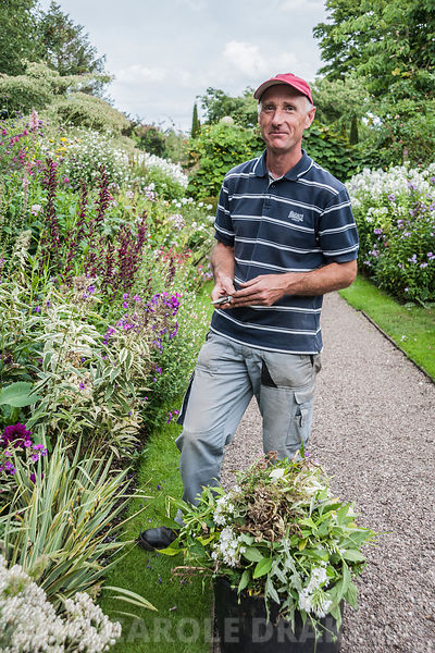 Andrew Humphris, head gardener. Wollerton Old Hall, nr Market Drayton, Shropshire, UK