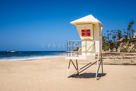 Orange County California Laguna Beach Lifeguard Tower