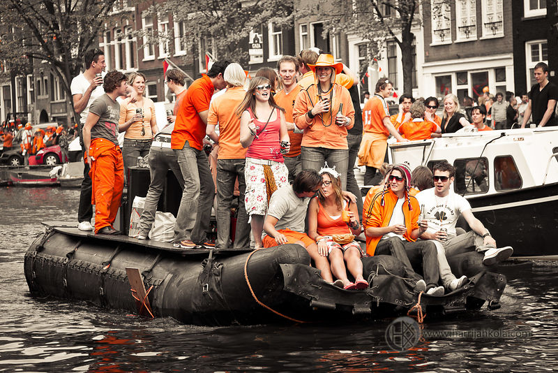 Netherlands - Amsterdam (Queen's Day - Rubber Dinghy)