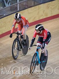 Junior Women Sprint 1-2 Final. Ontario Track Championships, Mattamy National Cycling Centre, Milton, On, March 4, 2017