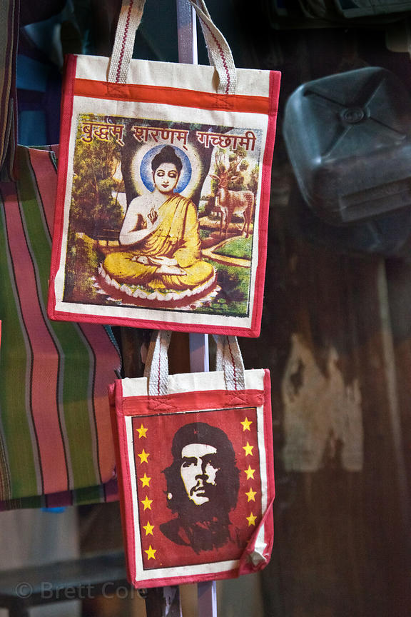 Buddha and Che for sale to tourists in Jaisalmer, Rajasthan, India