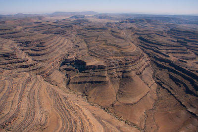 Aerial view of  Hunsberge / Huns Mountains, Namibia, September 2011.