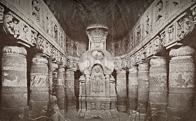 Buddhist temple at Ajanta