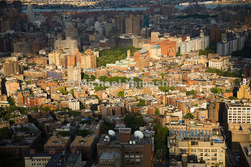 New York University buildings and dorms dominate much of Greenwich Village surrounding Washington Square.  Manhattan, New Yor...