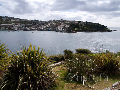 looking across the  Fowey estuary to Polruan