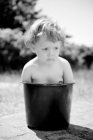 Girl in bucket #1