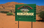 Sign board, Riemvasmaak, Northern Cape, South Africa