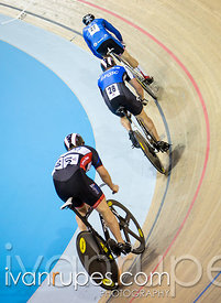 Women's team sprint qualification. 2015 Canadian Track Championships, October 7, 2015