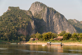Scenes on the Mekong River around Pak Ou in Laos.