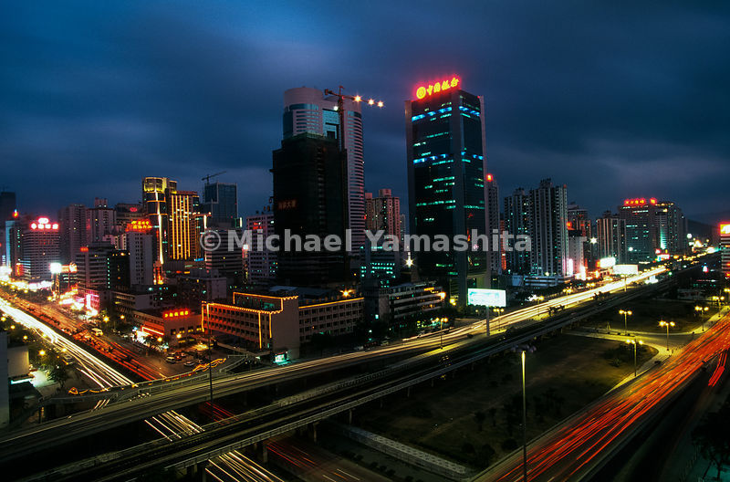 Once farmland, now a noisy 24 hour city of 3 million people. Many workers are from interior rural areas..Shenzhen, China