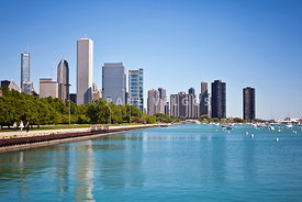 Chicago Skyline Photo at DuSable Harbor