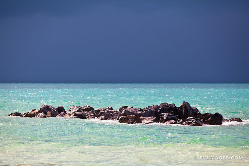 TURQUOISE SEA WATERS AND ROCKS KEY WEST FLORIDA KEYS FLORIDA COAST