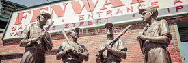 Fenway Park Bronze Statues Panorama Photo