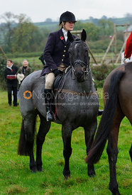 Followers at the meet - The Belvoir Hunt at Long Clawson, 2-11-13