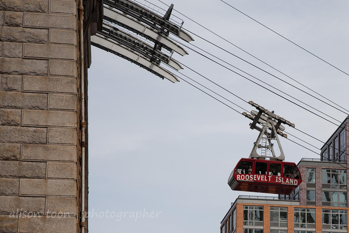Riding the cable car to Roosevelt Island, NY