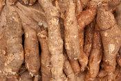 Cassava for sale at the market, Mozambique