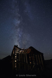 Broken house and the Milky Way