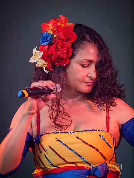 Angelica Lopez sings Columbian vallenato at WOMAD