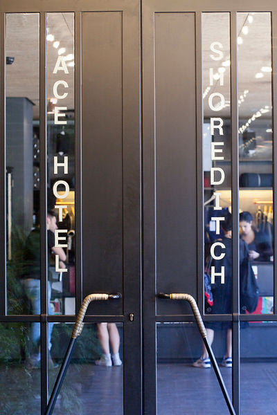 UK - London - The doors of the Ace Hotel