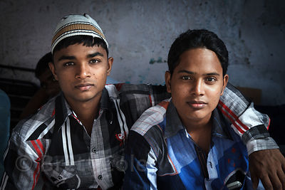 Portrait of two brothers in Sion, Mumbai, India.