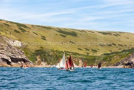 Drascombes approaching Lulworth Cove, 201707070149