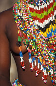 Zulu beads are worn by the maiden, Kwazulu-Natal, South Africa