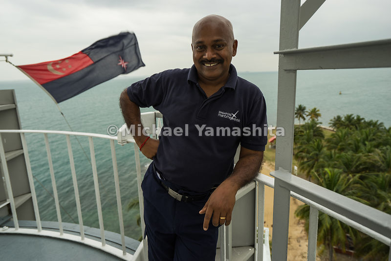 MPA employs eight lightkeepers who work on rostered duty to man Singapore's lighthouses. Mr. Manikaveloo, now 52 years old, j...