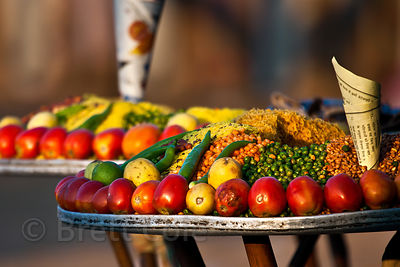 Tray of vegetables, Pushkar, Rajasthan, India
