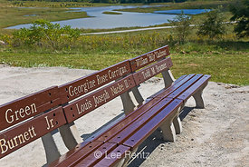 Benches with Victim Names at Fllight 93 Memorial