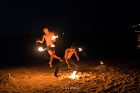 Fire dancers on the island of Koh Samui in Thailand.