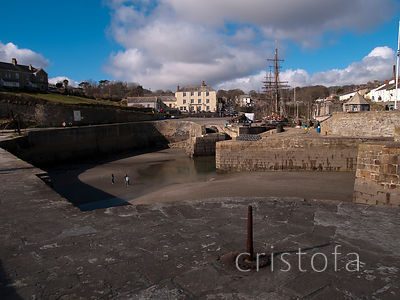 Charlestown Harbour at low tide