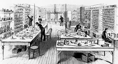 Edison's lab at Menlo Park, NJ, 1880